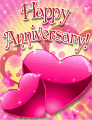 Pair of Hearts Small Anniversary Card