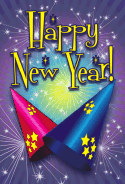 Party Hats New Years Card