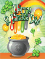 Pot of Gold Small St Patrick's Day Card