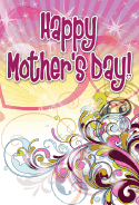 Purple Swirls Mother's Day Card