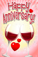 Red Wine Anniversary Card