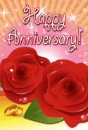 Roses and Rings Anniversary Card