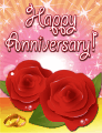 Roses and Rings Small Anniversary Card