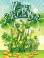 Shamrocks Small St Patrick's Day Card