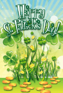 Shamrocks St Patrick's Day Card