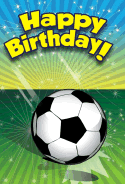 Soccer Birthday Card