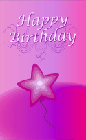 Star Balloon Birthday Card