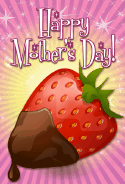 Strawberry in Chocolate Mother's Day Card