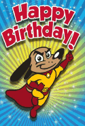 Superhero Dog Birthday Card