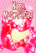 Swirling Red Hearts Mother's Day Card