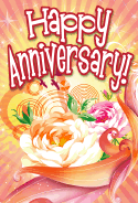 Swirling Roses Anniversary Card