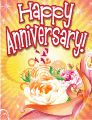 Swirling Roses Small Anniversary Card