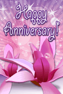 Tropical Flower Anniversary Card