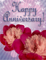 Two Flowers Small Anniversary Card