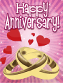 Two Rings Small Anniversary Card