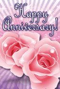 Two Roses Anniversary Card