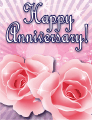 Two Roses Small Anniversary Card