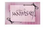 Pink Anniversary Card