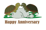 Anniversary Card with Turtles