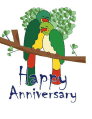 Anniversary Card with Lovebirds (small)