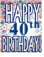 Birthday Card 40 Years (small)