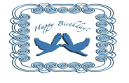 Birthday Card with Blue Birds