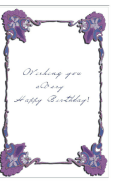 Birthday Card with Flower Border