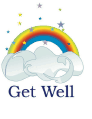 Get Well Card with Rainbow (small)