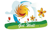 Get Well Card with Sunshine