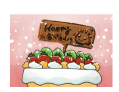 Birthday Card with Dessert (small)