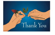 Thank You Card with Rosebud