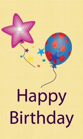 Balloons Birthday Card Greeting Card