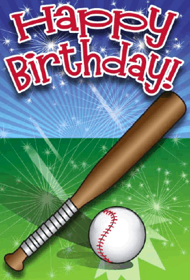 Baseball Birthday Card Greeting Card