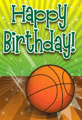 Basketball Birthday Card Greeting