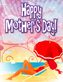 Beach Umbrella Small Mother's Day Card Greeting Card