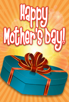 Blue Box Mother's Day Card Greeting Card
