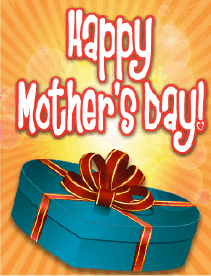 Blue Box Small Mother's Day Card Greeting Card