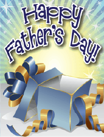 Blue and Gold Gift Small Father's Day Card Greeting Card