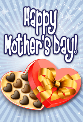 Box of Chocolates Mother's Day Card Greeting Card
