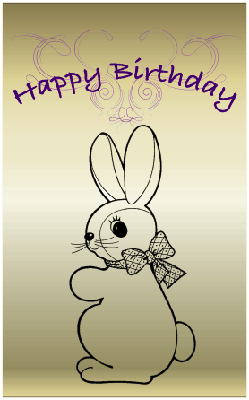 Bunny Rabbit Birthday Card Greeting