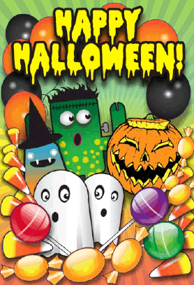 Busy Halloween Card Greeting Card