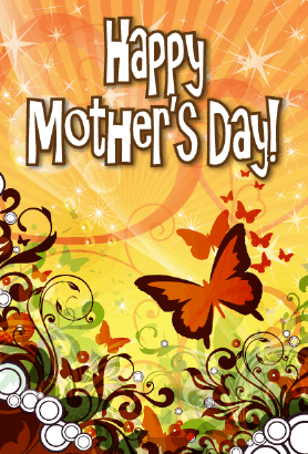 Butterflies Mother's Day Card Greeting Card