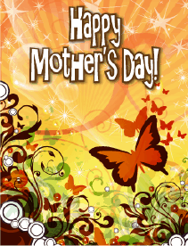 Butterflies Small Mother's Day Card Greeting Card