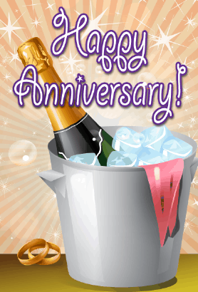Champagne Bucket Anniversary Card Greeting Card