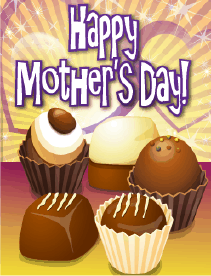Chocolate Truffles Small Mother's Day Card Greeting Card