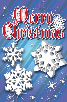 Christmas Snowflakes Card Greeting Card