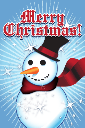 Christmas Snowman Card Greeting Card