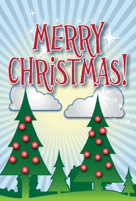 Christmas Trees Card Greeting Card