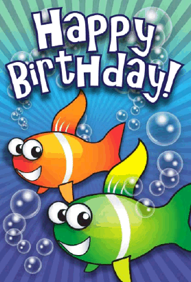 Clown Fish Birthday Card Greeting Card