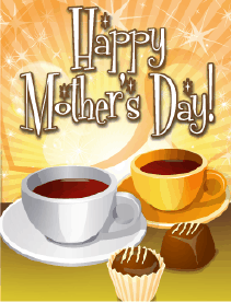 Coffee and Chocolate Small Mother's Day Card Greeting Card